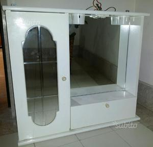 Armadio due ante specchio e mobiletto bagno posot class - Mobiletto con specchio ...