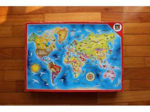 Puzzle Mapa Mundi marca Diset 160 pz vintage anni 80