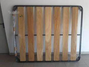 Rete Matrimoniale doghe in legno mai usata