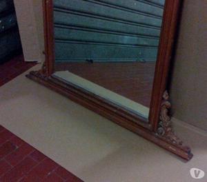 Specchio antico, cornice in noce, anche per Shabby
