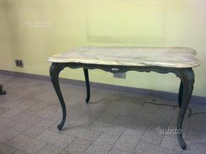 Tavolino rettangolare in marmo onice gambe ottone