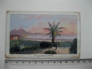 Acquerello Capodimonte primo Novecento