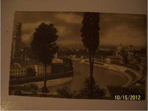 Cartolina da vera fotografia con panorama di verona.