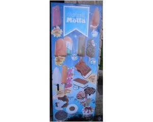 Tabella gelati insegna latta lire Motta mazinga nick carter