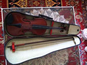 Violino d'antiquariato 3/4 in legno di abete