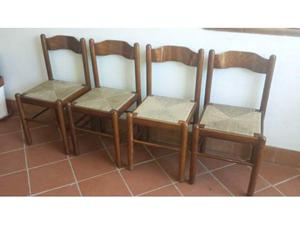 4 sedie in legno massello!