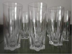 BICCHIERI DI VETRO (forse cristallo) alti cm. 15 (qta 8)