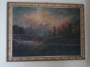 Dipinto olio su tela con cornice