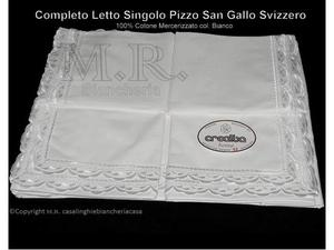 Coppia lenzuola pizzo san gallo svizzero posot class for Eminflex singolo a 79 euro