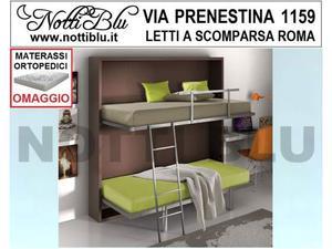 Letti a Scomparsa _ Letto a Castello NB 266 Materassi