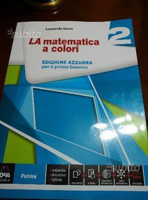 Libro matematica per superiori 2° anno