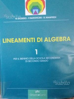 Lineamenti di algebra 1 isbn