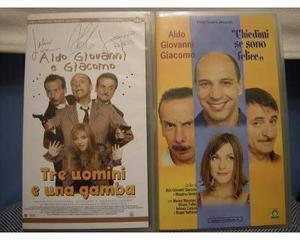 N.3 vhs Aldo Giovanni e Giacomo - perfette