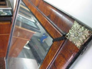 SPECCHIO cornice in legno NOCE inizio '900.