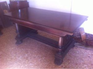 Tavolo allungabile con sedie primi '900