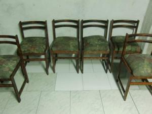 Tavolo rotondo allungabile cm  con 6 sedie in legno