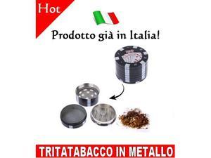 Tritatabacco metallo chips poker fisches trita tabacco erba
