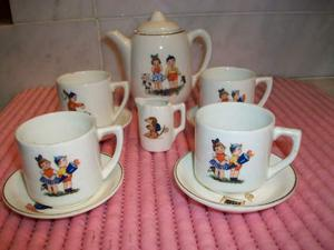 Antico servizio tazzine caffe per bambole