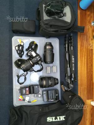 Nikon d 90 + obiettivi + accessori