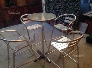 2 sgabelli in legno rustici con tavolo alto posot class - Tavolo alto con sgabelli ...