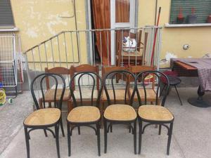 4 sedie in legno per giardino