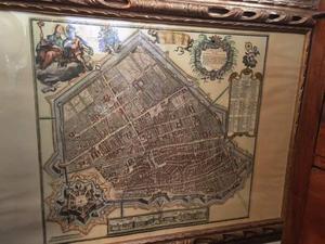 Antica stampa di Ferrara con cornice originale