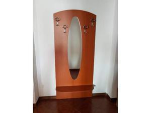 Attaccapanni da parete con specchio