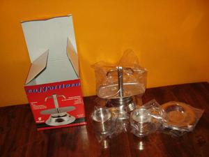 CAFFETTIERA 2 Tazze + TEIERA 4 Tazze Acciaio Inox