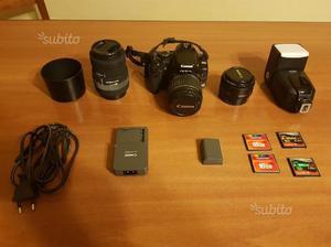 Canon EOS 400D con Obiettivi e Flash