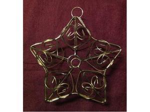 Cestino metallico tipo gabbia, a forma di stella
