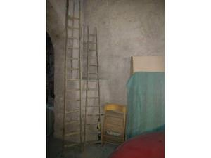 Coppia scale a pioli antiche