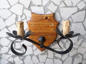 Lampadari lampade applique rustici artigianali