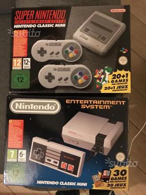 Mini nes + super nintendo classic mini