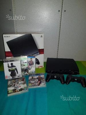 PS3 slim 120GB + secondo controller + giochi