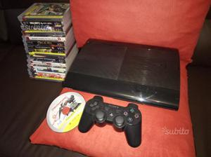 PlayStation 3 PS3 SUPER SLIM 500GB+15 giochi