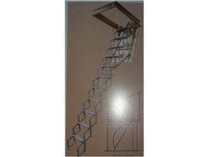 Scala da soffitto a fisarmonica in alluminio misure 50x80 h