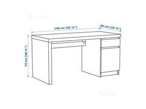 Scrivania legno bianco ikea a fagiolo posot class for Ikea malm scrivania