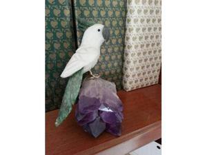 Scultura in pietre dure - pappagallo