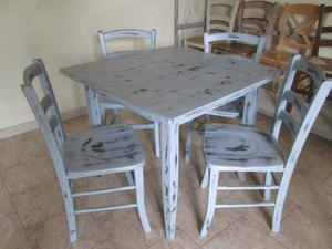 Sedie e tavoli shabby