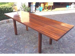 Set tavolo, 6 sedie, credenza, in legno