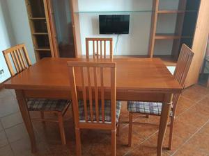 Tavolo allungabile in legno + 6 sedie