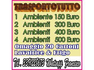 montaggio e trasporto mobili euro 150