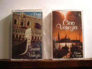 N° 2 audiocassette musica veneziana, nuove