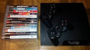 PS3 +12 Giochi + 2 joystick