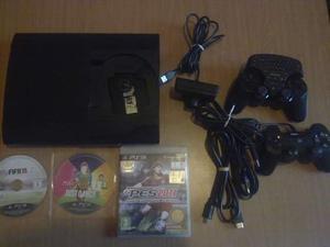 Playstation 3 super slim hdmi + 3 giochi e accessori