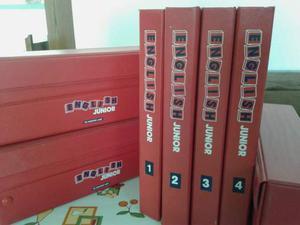ENGLISH JUNIOR n. 48 fascicoli in 4 raccoglitori + cassette