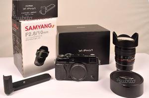 Fuji X-Pro1 corpo + obiettivo Samyang 10 mm f2.8