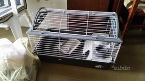Gabbia coniglio lettiera e portafieno posot class - Lettiera coniglio nano ...