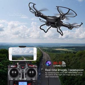 Drone Quadricottero con Telecamera, Wifi FPV 2.4GH