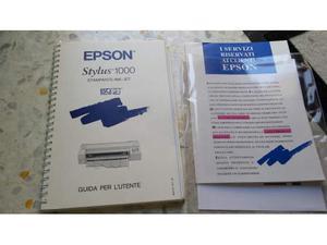 Manuale Stampante Epson Stylus  Stampante Ink - Jet